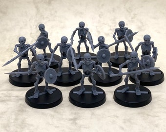 Skeletons with spears and shields