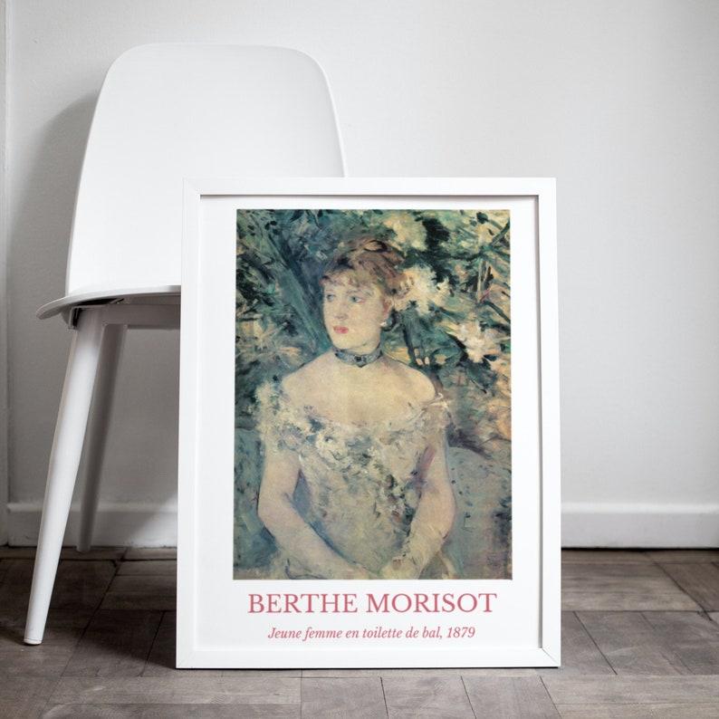 Berthe Morisot print Jeune Femme en Toilette de Bal French image 0