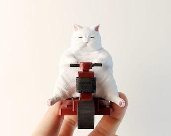 Fat Cat #3  - Cat Figurine.Handmade Cat Ornament.Cat Gifts.