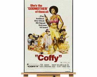 Coffy Blaxploitation Pam Grier movie movie  canvas wall art print