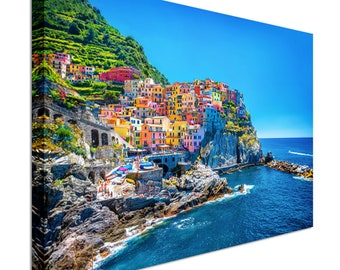 Cinque Terre Italy  Canvas Wall Art Picture Print