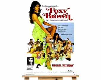 Foxy Brown Blaxploitation Pam Grier  movie canvas wall art print