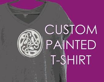 Custom hand painted T-shirt