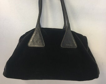 Miu Miu dark brown velvet shoulder bag vintage