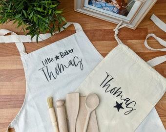 Personalised Kid's Apron   Baking Set   Birthday Gift   Christmas Gift   Star Baker   Children's Apron   Stocking Stuffers