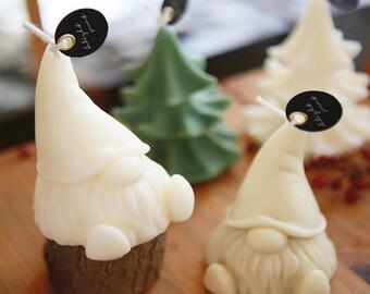 New cute Gnome Statue Resin Silicone Mold Funny Resin Casting Concrete Plaster Nordic Nisse Figurine Silicone Mould