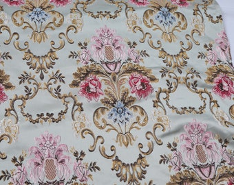 """Embossed court floral brocade fabric jacquard textile upholstery material 58"""" wide - sold by the yard"""