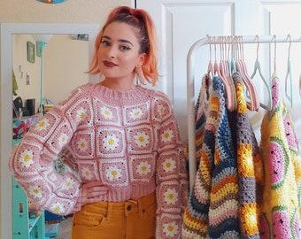 Daisy Sweater *PDF CROCHET PATTERN Download*