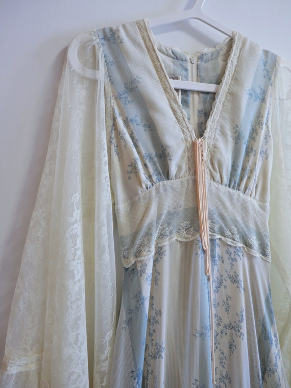 1970s Rare Gunne Sax Dress With Angel Wing Sleeves - image 6
