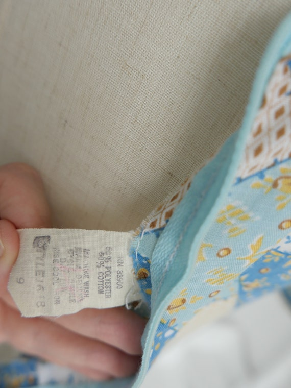 1970s Gunne Sax Style Patchwork Print Maxi Dress - image 9