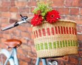African handmade bicycle basket