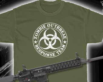 Zombie Outbreak Response Team T-Shirt (Zombies, Gaming Gifts, Horror, Sci-Fi)