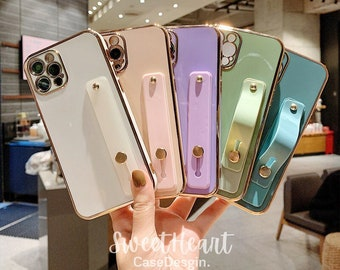 Electroplate with Strap iPhone 13 12 11 Pro Max case 13 12 mini case iPhone 13 12 11 XR case X XS Max Case 7 8 Plus iPhone 13 12 11 Hülle