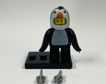 Lego Penguin Happy Brickday Birthday Card includes new genuine Lego pieces