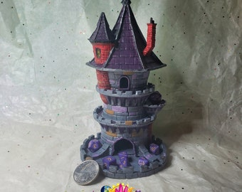 Wizard Dice Tower, Made to Order, Custom Painted - Fate's End