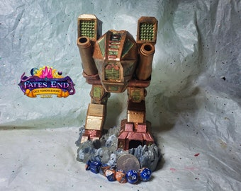 Mech Dice Tower, Made to Order, Custom Painted - Fate's End