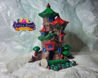 Fairy Dice Tower, Made to Order, Custom Painted - Fate's End