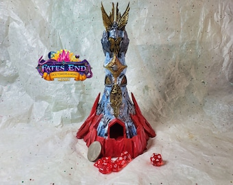 Heaven & Hell Dice Tower, Made to Order, Custom Painted - Fate's End