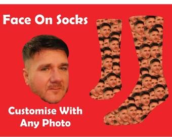 custom face socks, custom photo socks, custom socks, personalised socks, face on socks, photo socks, photo gift, boyfriend gift gift for him