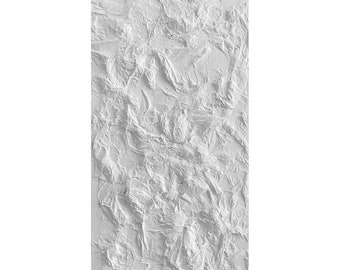 White Textural Painting