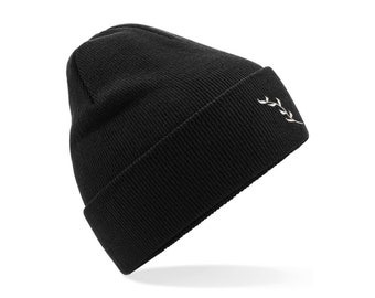 Recycled Cuffed Beanie Hat - Black