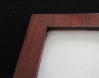 4x5 Two-tone Custom 5x7 Mahogany Picture Frame 11x14 Wood 8x10