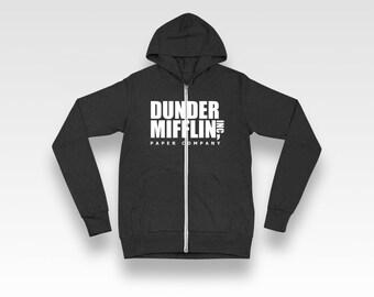 Dunder Mifflin Unisex Zip-Up Hoodie