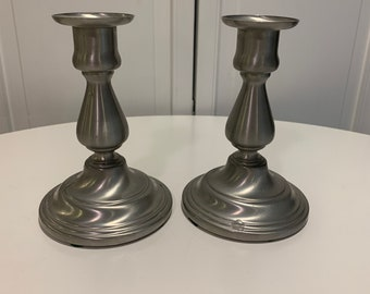 LF42393EC Pewter Candlestick Candle Holder