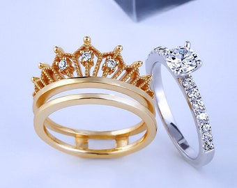 beautiful 925 sterling silver uni sexual crown ring for both men and women; girls and boys;valentines gift...