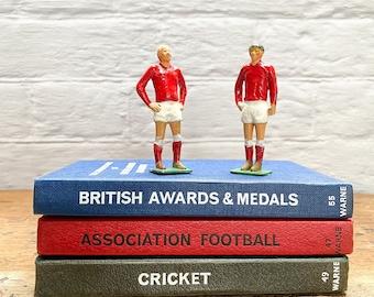 Vintage lead football or rugby figures