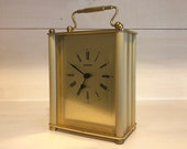 Vintage Staiger Brass Carriage Clock - West Germany - Boho Gold Tone Table Clock - Mantle Clock - Office Decor
