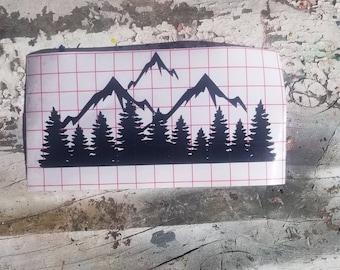 Mountain Forest Vinyl Decal Window Sticker Car Decal