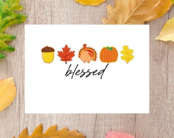 Blessed Fall Card | Digital Download | Printable Card