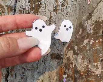 Mini Ghost Sticker Pair | Vinyl Sticker Window Decal | Halloween Sticker