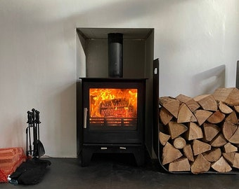 High Quality, Large Steel Log Store .. Firewood Metal Stand Holder Rack Storage Unit Organiser
