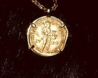 1729 23k gold  Dutch Ducat off the Sunken ship Vliegenthart