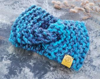 Warm Headband, Hairband, Twist headband, Womens headband, Boho headband, Wide headband, Knitted headband, by SPLOTEKA, MAXCOLOR collection