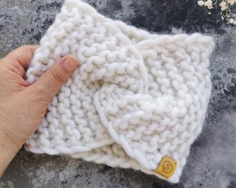 Warm Headband, Hairband, Twist headband, Womens headband, Boho headband, Wide headband, Knitted headband, by SPLOTEKA, WOOLY collection