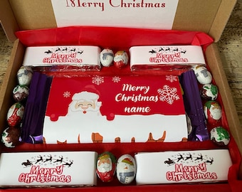 Personalised Christmas chocolate bar box