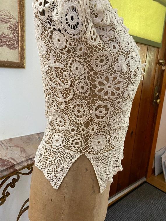 Antique Irish Crochet Blouse - image 5
