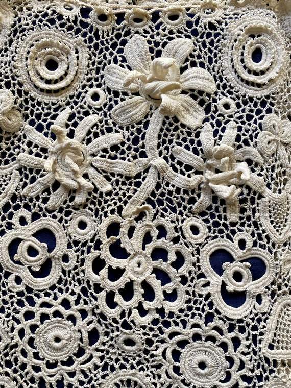 Antique Irish Crochet Blouse - image 2