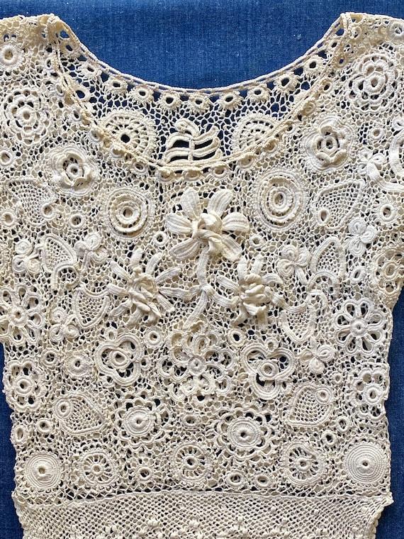 Antique Irish Crochet Blouse - image 6