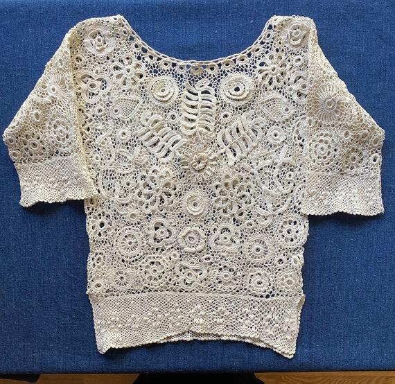 Antique Irish Crochet Blouse - image 7