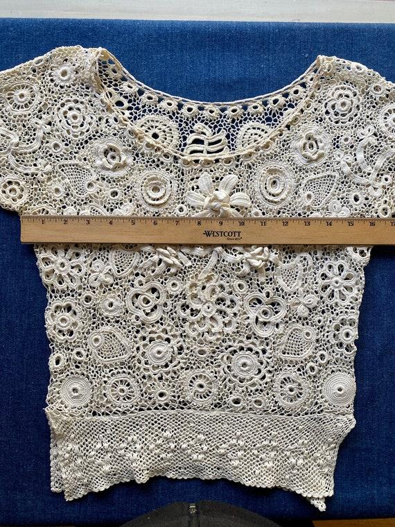 Antique Irish Crochet Blouse - image 8