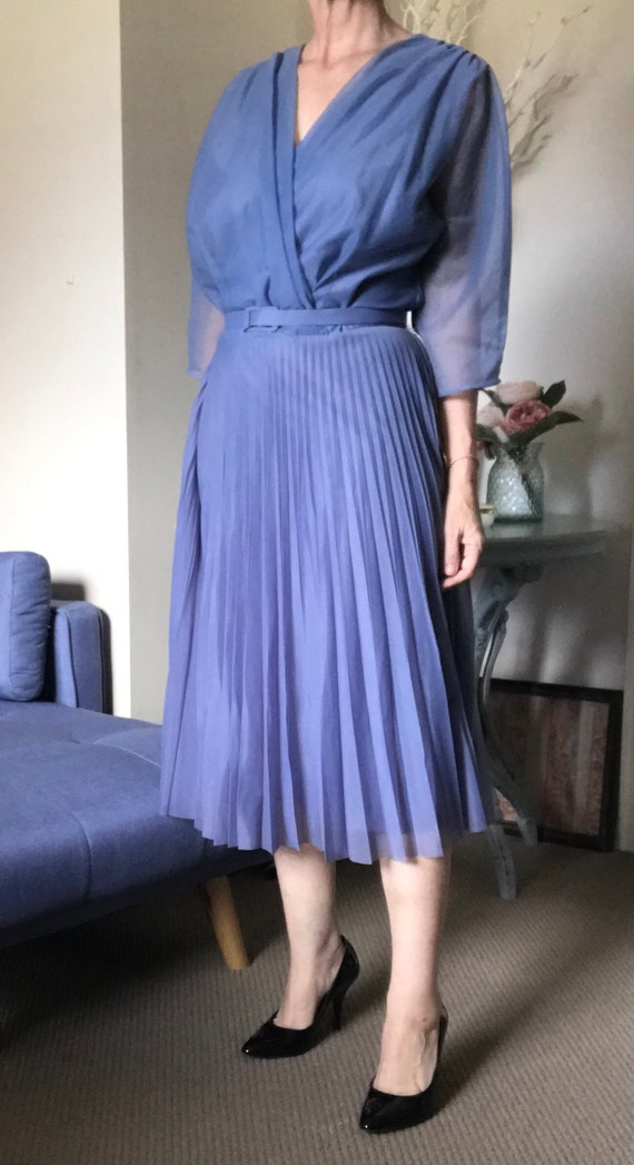 1950 Vintage Chiffon Dress