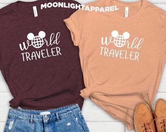 World Traveler T-shirt, Disney Shirts, Disney Vacation T-shirt, Disneyworld T-shirts, Disney Family Shirts, Disney Shirt For Women's