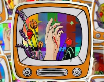 Flesh and Blood - Sticker, Holographic Sticker, TV Sticker, Retro Sticker, Laptop Sticker, Water Bottle Sticker