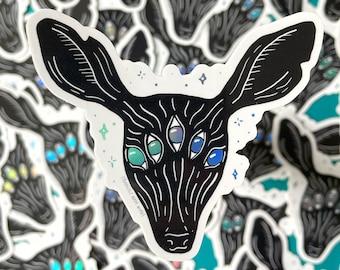 The Prey - Sticker, Holographic Sticker, Deer Sticker