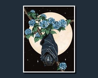 Bat! - Art Print, Wall Art, Illustration, Digital Art Print, Bat Print