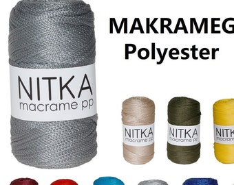 Macrame yarn made of polypropylene